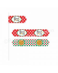 Pizza Party Theme Drink Straws