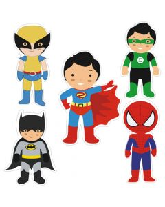 Superhero Theme Cutouts