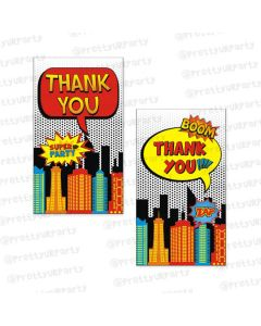 superhero  thankyou cards