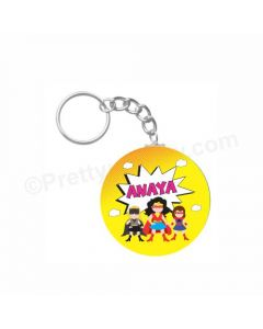 Personalized Supergirl Keychain
