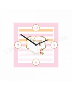 Personalised Swan Clock - Square