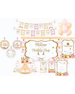 Swan Party Decorations - 90 Pieces