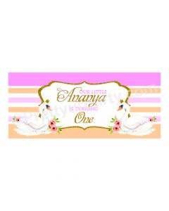 Personalized Swan Theme Banner 30in