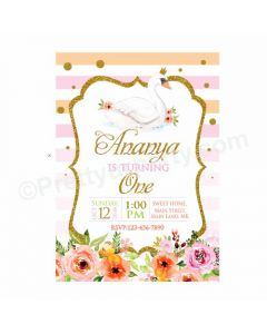 Swan Theme Invitations