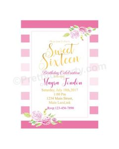 Sweet Sixteen Theme Invitations