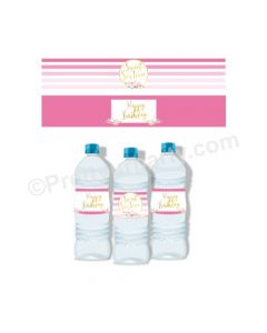 Sweet Sixteen Theme Water Bottle Labels