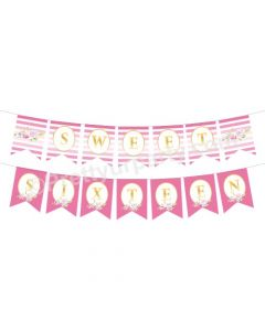 Sweet Sixteen Theme Bunting