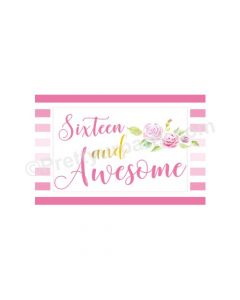Sweet Sixteen Theme Table Mats