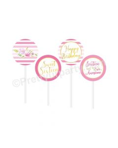 Sweet Sixteen Theme Cupcake / Food Toppers