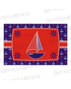 Nautical theme table mats