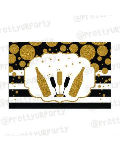 Gold and Black New Year Table Mats