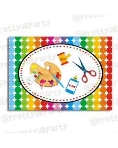 Art & Craft Party Table Mats