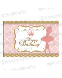 Pink and Gold Ballet Table Mats