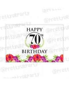 70th Birthday Theme Table Mats