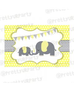 Elephant Baby shower Table Mats