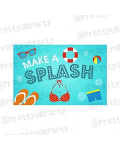 Splash Pool Party Theme Table Mats