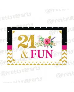 21st Birthday Theme Table Mats