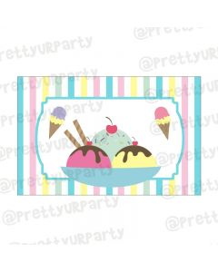 Ice Cream Theme Table Mats