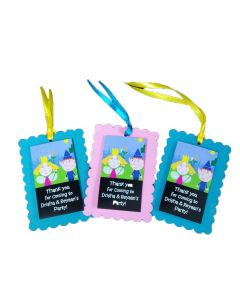 Ben and Holly Theme Handcrafted Thank you Tags