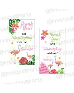 Flamingo Theme Thankyou Cards