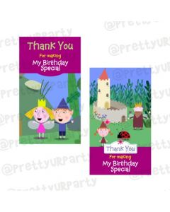 Ben and Holly's Little Kingdom Theme Thankyou Cards