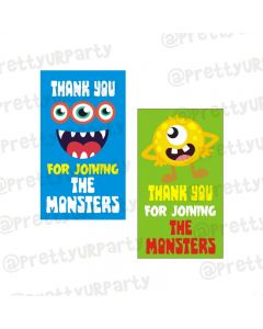 Monster Theme Thankyou Cards