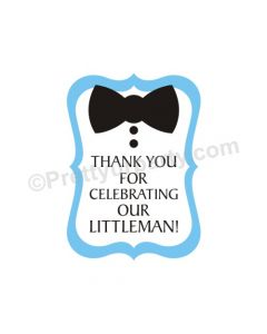 Little Man Theme Handcrafted Thank you Tags
