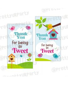 Little Bird Theme Thank you Tags
