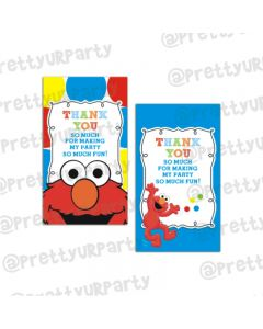Elmo Theme Thankyou Cards