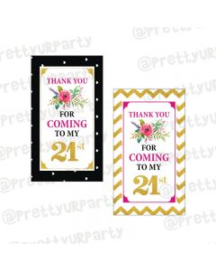 21st Birthday Theme Thank You Cards