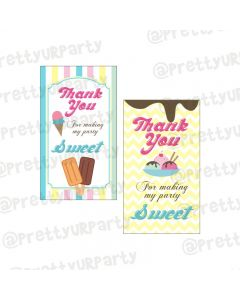 Ice Cream Theme Thankyou Cards