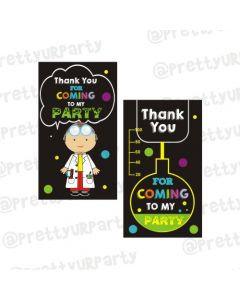 Mad Scientist Theme Thankyou Cards