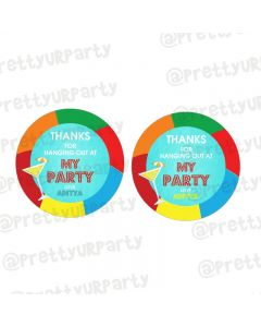 Splash Pool Party Theme Thankyou Cards