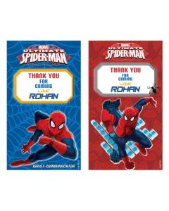 Spiderman Thankyou Cards