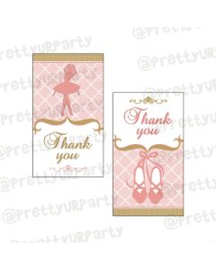 Pink and Gold Ballet Thankyou Cards