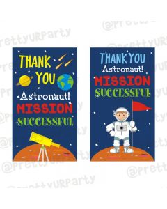 Space Theme Thankyou Cards