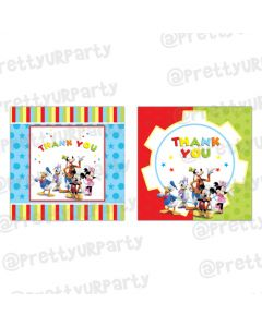 Mickey Mouse Clubhouse Inspired Thankyou Cards