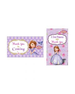 Sofia the first Enchanted Garden Party Thankyou Cards