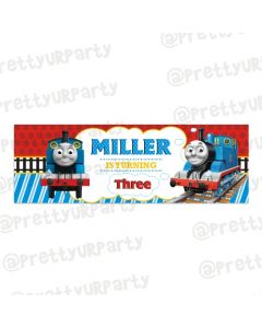 Personalized Thomas the train Birthday Banner 36in with photo