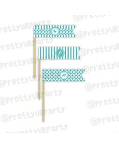 Tiffany baby Shower picks
