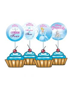 Disney Cinderella Cupcake / Food Toppers