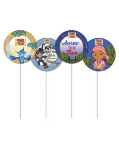 Captain Jake and the Neverland Cupcake / Food Toppers