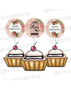 Cage Theme Cupcake / Food Toppers
