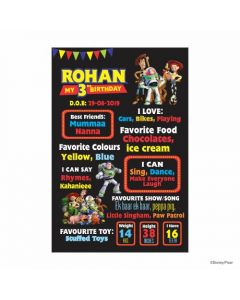 Toy Story Theme Chalkboard Poster