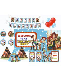 Toy Story Party Decorations - 90 Pieces