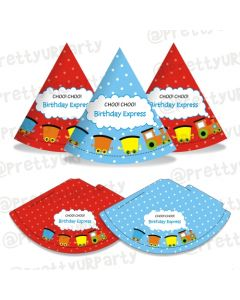 Train themed party hats