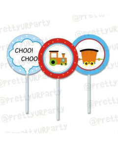 train cupcake / food toppers