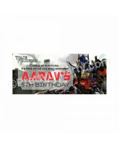 Personalized Transformers Theme Banner 30in