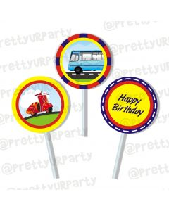 transport  cupcake / food toppers