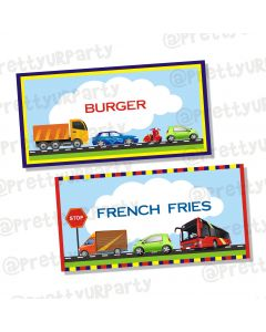 transport labels / buffet table cards
